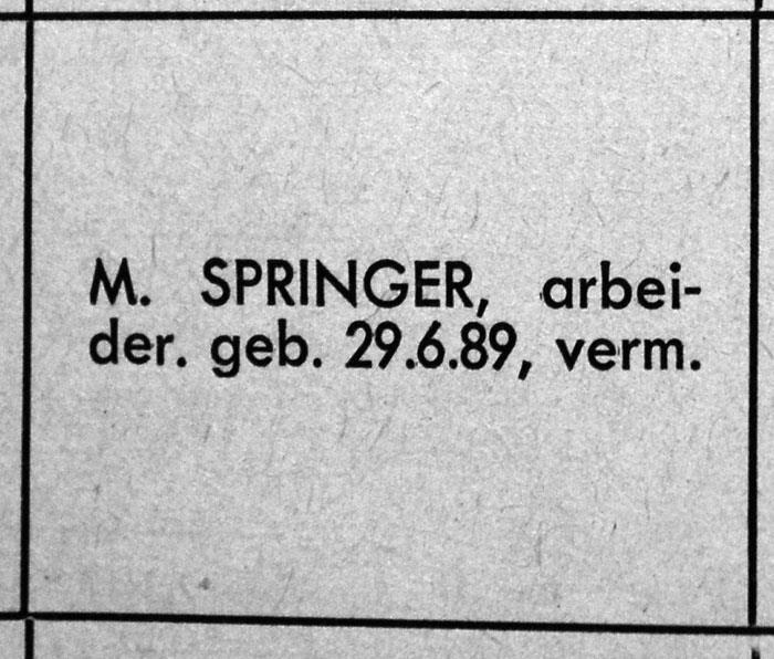 M. Springer (bron: Spoor- en Tramwegen 1947, blz. 194). Mozes Springer werd als Joods burger afgevoerd en overleed vermoedelijk in een concentratiekamp.
